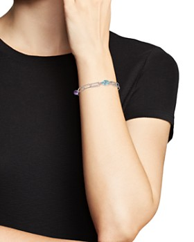 Bloomingdale's - Amethyst and Blue Topaz Twisted Link Bracelet in Sterling Silver - 100% Exclusive