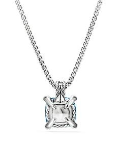 David Yurman - Châtelaine® Pendant Necklace with Blue Topaz and Diamonds