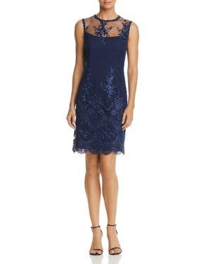 nanette Nanette Lepore Embroidered Mesh Sheath Dress 2638539