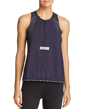 adidas by Stella McCartney Run Zip-Front Tank
