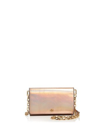 Tory Burch - Robinson Metallic Leather Chain Wallet