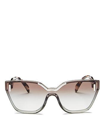 Prada - Women's Hide Shield Sunglasses, 68mm