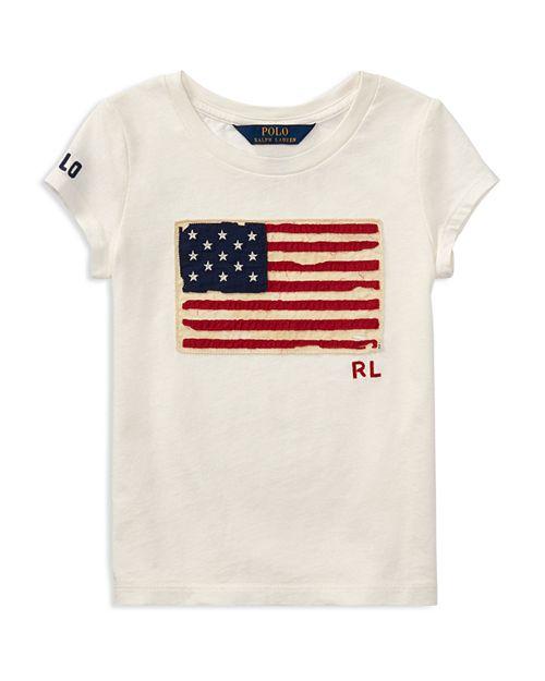 Ralph Lauren - Girls' Flag Tee - Little Kid