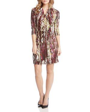 Karen Kane Printed Faux-Wrap Dress