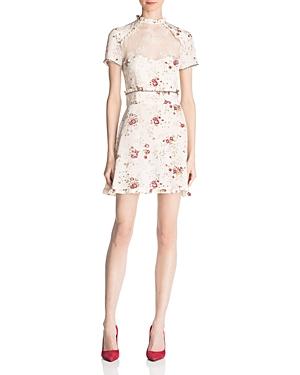 The Kooples Silk Floral Print Dress