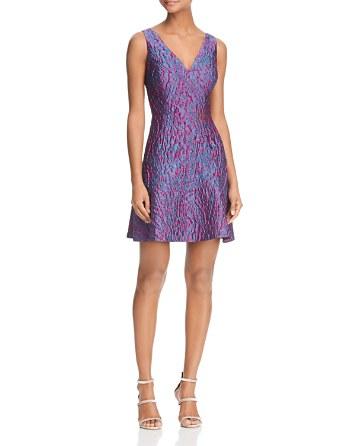 $Aidan Aidan Metallic Jacquard Dress - Bloomingdale's