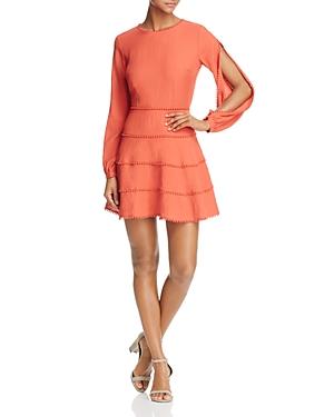 Finders Salt Lake Tier-Effect Slit-Sleeve Mini Dress