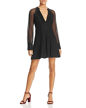 Ella Moss Amberline Lace Fit-and-Flare Dress