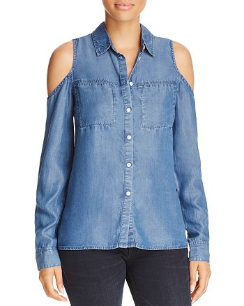 Alison Andrews - Cold Shoulder Chambray Top - 100% Exclusive
