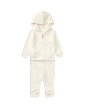 Ralph Lauren Childrenswear Girls French Terry Hoodie  Sweatpants Set  Baby