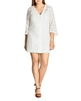 $City Chic Mixed Lace Dress - Bloomingdale's