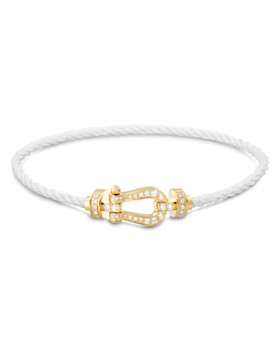 Fred - Force 10 Medium Cable Bracelets with 18K Yellow Gold Buckles