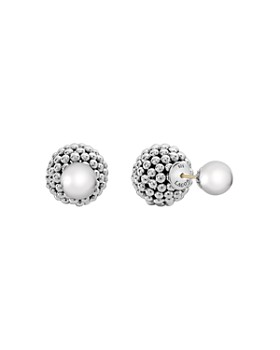 6f62b75ba LAGOS - Sterling Silver Signature Caviar Bead Front-Back Stud Earrings ...