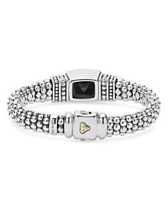 LAGOS - 18K Gold and Sterling Silver Caviar Color Bracelet with Black Onyx