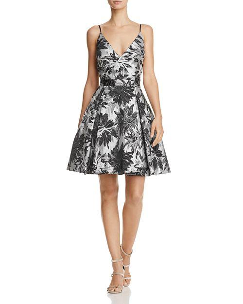 AQUA - Jacquard Fit-and-Flare Dress - 100% Exclusive