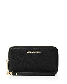 MICHAEL Michael Kors - Flat Multi-Function Large Leather Smartphone Wristlet