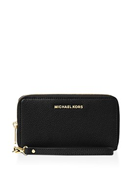 MICHAEL Michael Kors - Multi-Function Flat Large Pebble Leather Smartphone Wristlet