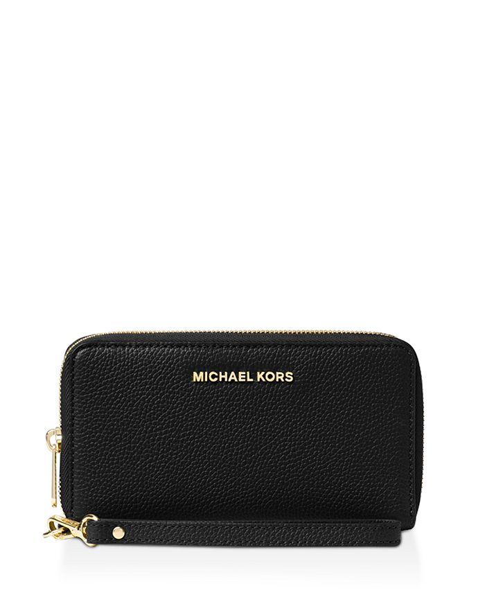 MICHAEL Michael Kors - Multi-Function Flat Large Pebble Leather Smartphone Wristlet