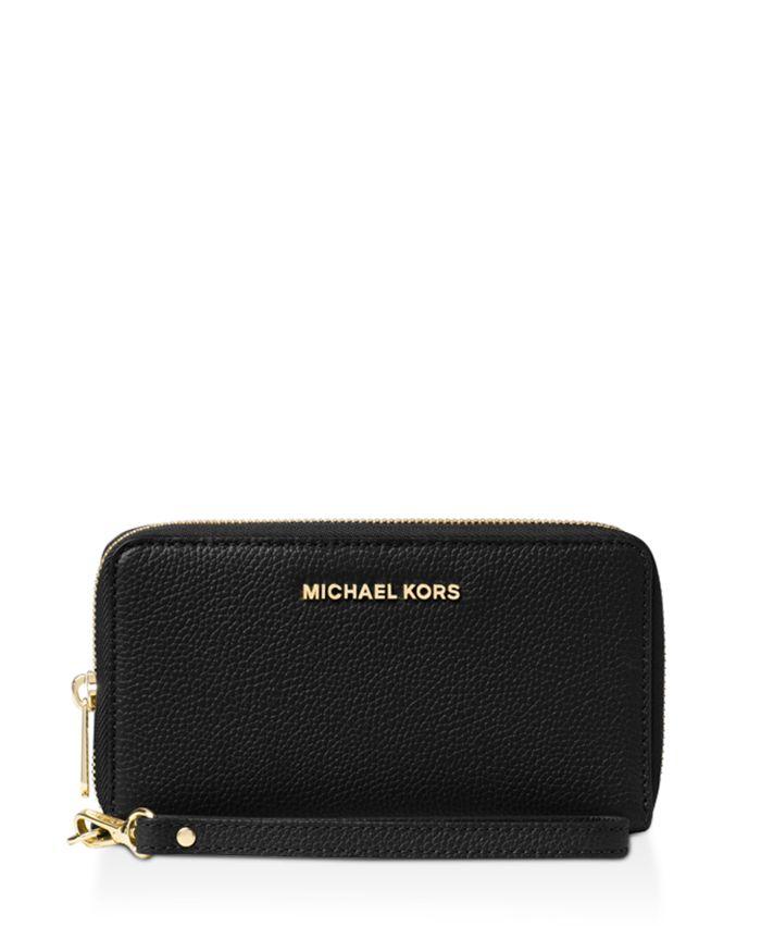 MICHAEL Michael Kors Multi-Function Flat Large Pebble Leather Smartphone Wristlet  | Bloomingdale's