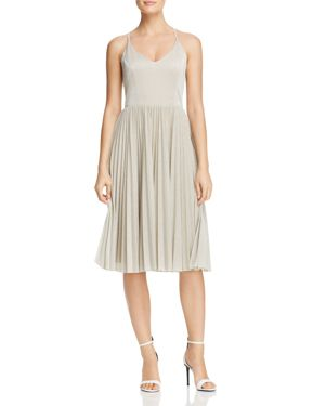 Adelyn Rae Jolene Pleated Fit-and-Flare Dress