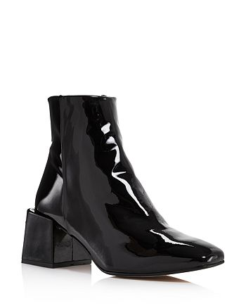 Loq Lazaro Patent Leather Block Heel Booties Bloomingdale S