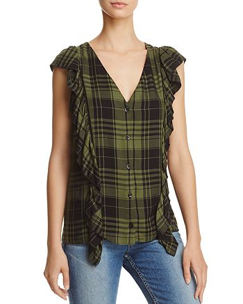 Alice and Olivia - Janet Side-Ruffle Blouse
