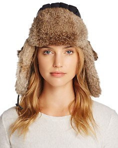 Crown Cap - Rabbit Fur Aviator Hat