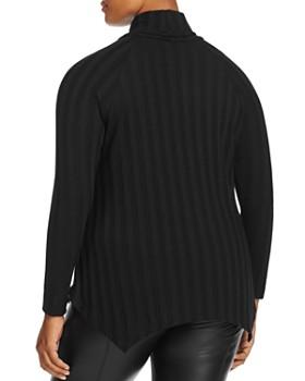 B Collection by Bobeau Curvy - Libby Rib Stripe Turtleneck Sweater