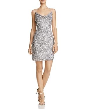 Adrianna Papell Cowl Neck Beaded Dress