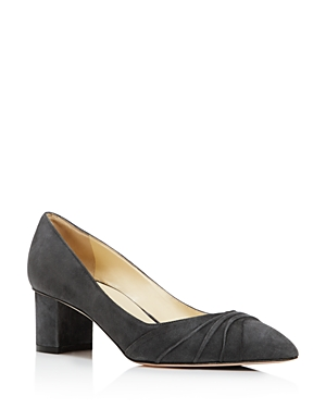 Sarah Flint Harper Pointed Toe Block Heel Pumps