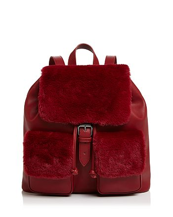 Sunset & Spring - Double Pocket Faux-Fur Backpack - 100% Exclusive