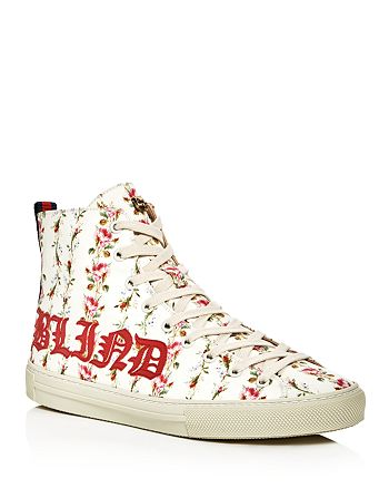 92d8914ec073 Gucci - Women s Major Blind For Love Rose Print Satin High Top Sneakers