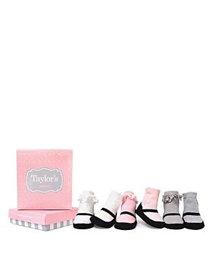 Trumpette Girls' Mary Jane Print Socks, 6 Pack - Baby