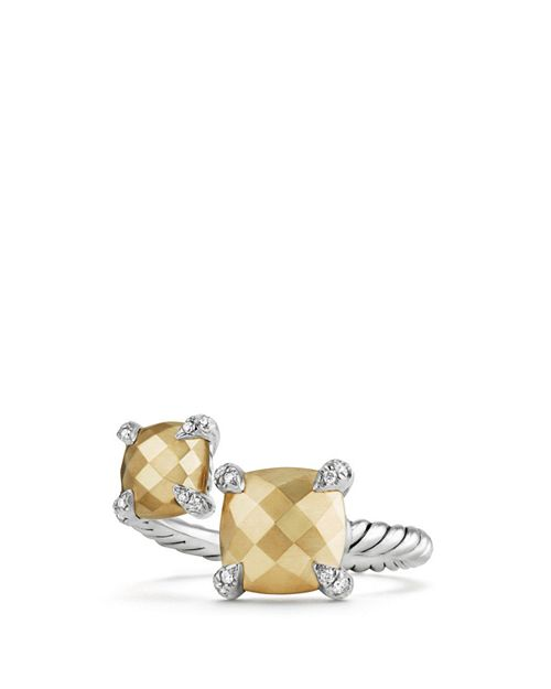 David Yurman - Châtelaine Bypass Ring with 18K Gold and Diamonds