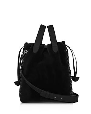 meli melo Hazel Small Velvet Bucket Bag