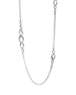 """JOHN HARDY - Sterling Silver Bamboo Loop Necklace, 36"""""""