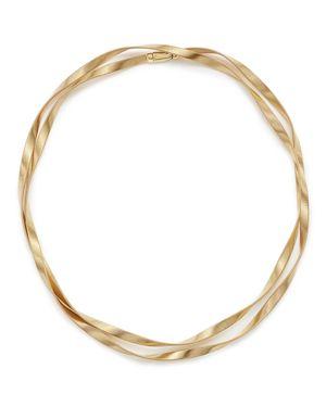 Marco Bicego 18K Yellow Gold Marrakech Supreme Double Collar Necklace, 36