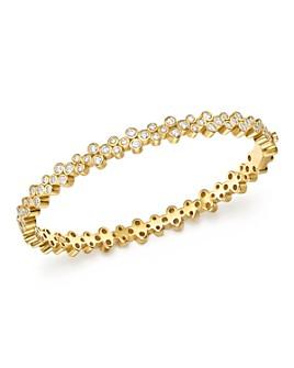Temple St. Clair - 18K Yellow Gold Eternity Diamond Trio Bangle Bracelet