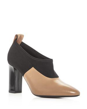 Via Spiga Women's Bayne Leather Color Block High Heel Booties