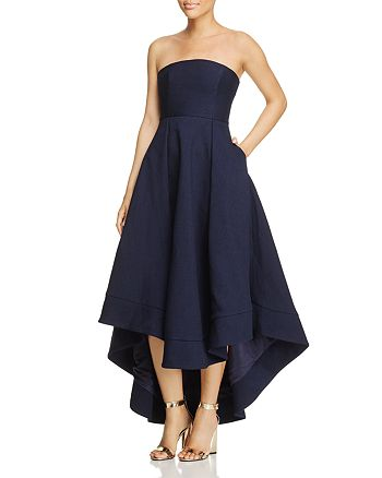 C/MEO Collective - We Woke Up High/Low Strapless Dress