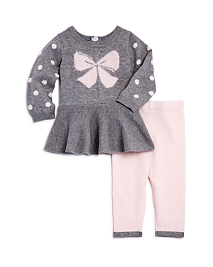 Miniclasix Girls' Peplum Sweater & Leggings Set - Baby