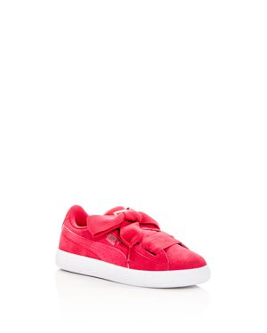 Puma Girls' Heart Suede Lace Up Sneakers - Little Kid