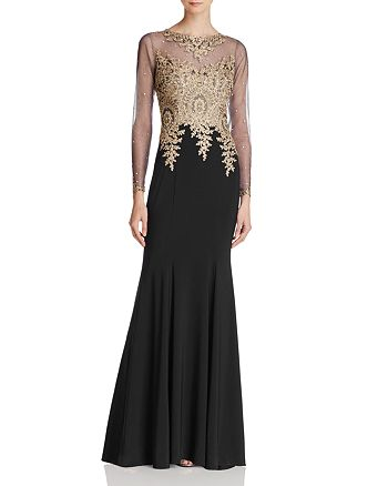 Avery G - Embroidered-Bodice Gown
