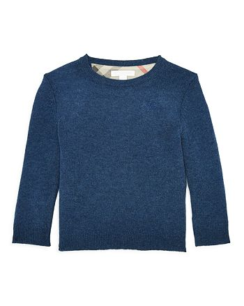 8df728ca6 Burberry Boys' Mini Durham Cashmere Crewneck Sweater - Little Kid ...