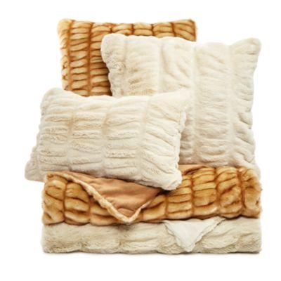 """Hudson Park Sculpted Faux Fur Decorative Pillow, 12"""" x 20"""" - 100% Exclusive"""