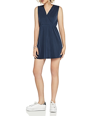 BCBGeneration Shirred Faux-Wrap Dress