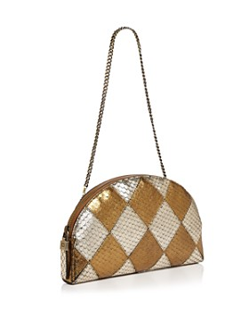Eric Javits - Pierrot Embossed Leather Shoulder Bag