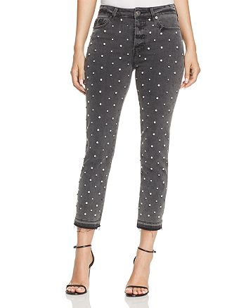 Pistola - Charlie Rhinestone Embellished Skinny Jeans in Diamond Dust - 100% Exclusive