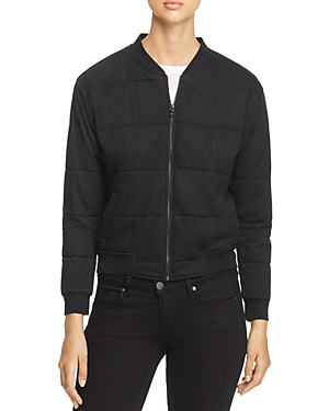 Majestic Filatures Quilted Bomber Jacket