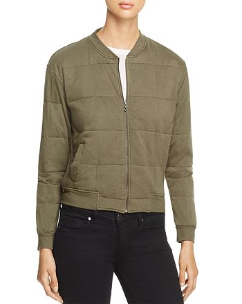 Majestic Filatures - Quilted Bomber Jacket